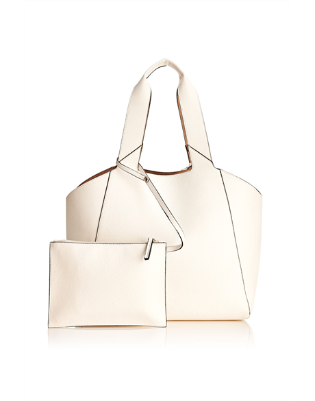 Lucy Reversible Bag (White)