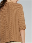 Darcy Cable Tee (Coffee)