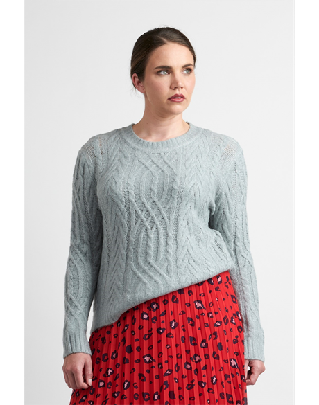 Sweater - Cable Knit (Mint)