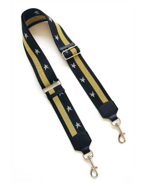Shoulder Bag Strap (Blk/Gld/Sil)
